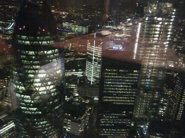 The view looking DOWN onto the Gerkin!